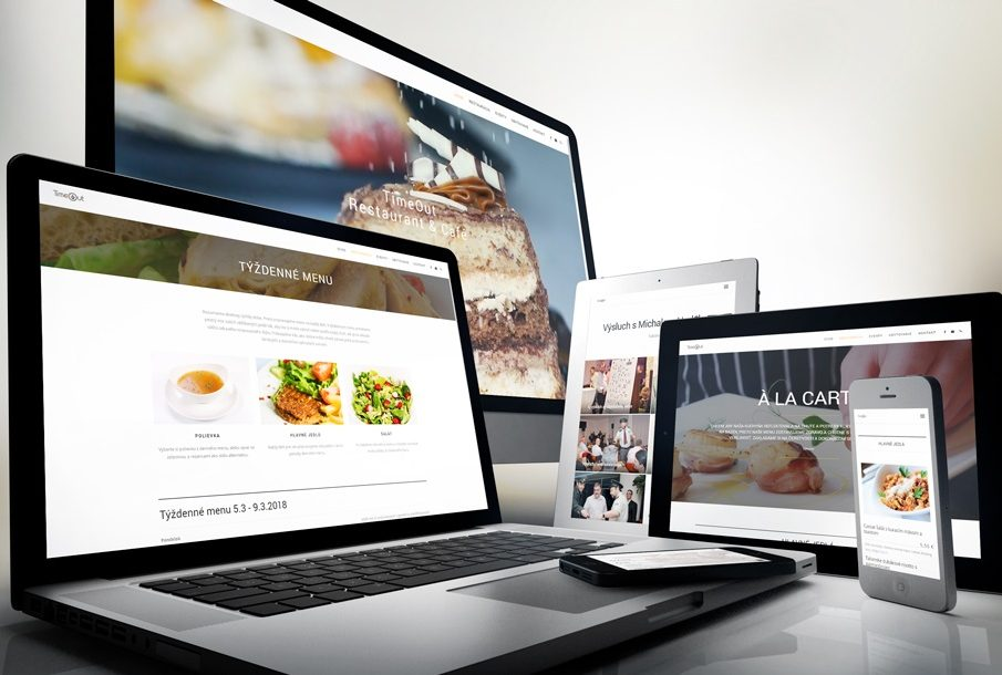 TimeOut Restaurant and Cafe s novou online prezentáciou od JUICY.sk